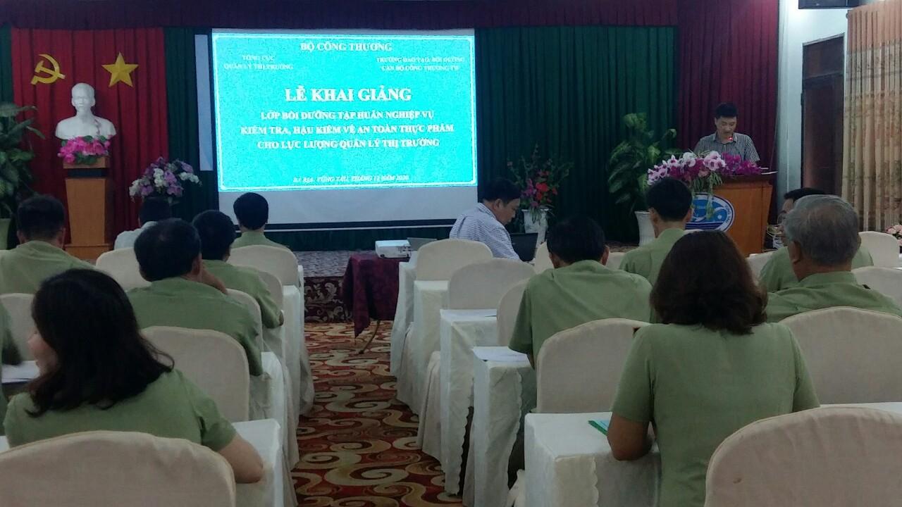 Cục Quản lý thị trường tỉnh Bà Rịa - Vũng Tàu tổ chức Hội nghị tập huấn nghiệp vụ kiểm tra về an toàn thực phẩm.