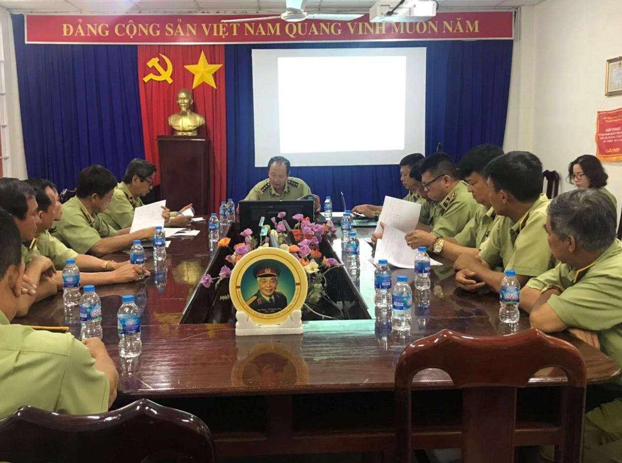 Cục QLTT tỉnh Bà Rịa - Vũng Tàu: Công bố Quyết định sáp nhập các Đội QLTT và công tác cán bộ.