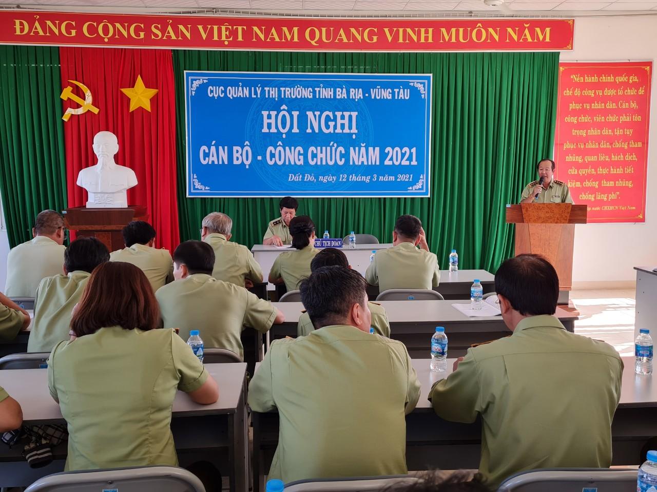 Cục QLTT Bà Rịa - Vũng Tàu tổ chức Hội nghị Cán bộ, công chức và người lao động năm 2021
